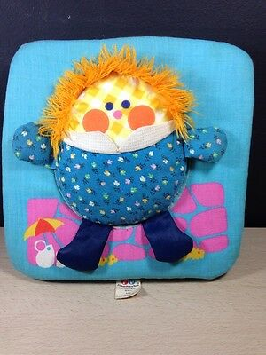 Fisher Price 446 Vintage Humpty Dumpty Square Pillow Plush Rattle Puzzle 1977