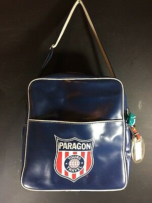 Vintage 60s 70s Paragon Tours Airlines Travel Flight Bag With Blue