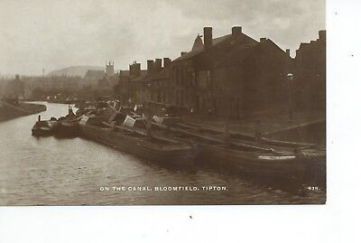 Real photo postcard of the Canal at Bloomfield Tipton West Midlands in vgc