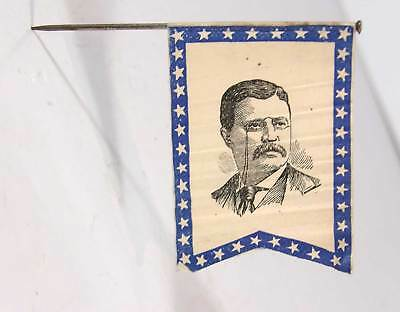 1904 Theodore Roosevelt / Charles Fairbanks Flag Shape Presidential Campaign Pin