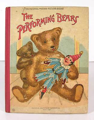 ca1905 TEDDY BEAR CHILDRENS MOVABLE MECHANICAL / POP-UP BOOK PERFORMING BEARS