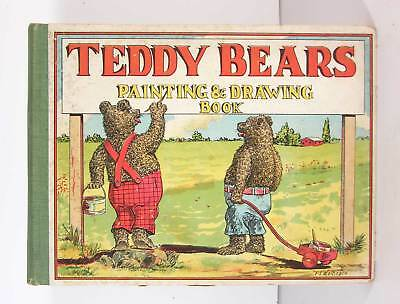 ca1907 TEDDY BEARS CHILDRENS PAINTING AND DRAWING TOY BOOK By FRANK WETHERBEE