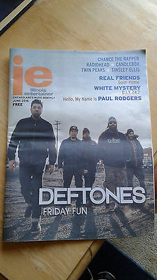 DEFTONES collectible item.music newspaper.radiohead.candlebox.chance the rapper.