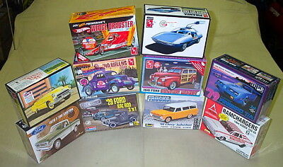 Lot Of Model Kits Ford Chevy Dodge Pontiac Willys Gasser Dragster F100 Pickup!