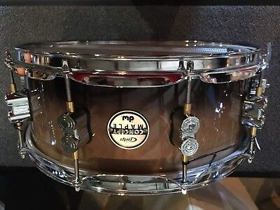 Pdp Concept Maple 10 Lug Snare Drum 14 X 5 Natural To Black Fade