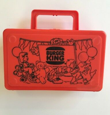 Red Vintage Burger King Lunch Box