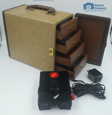Stereo Realist Slide Viewer AC Powered w/60 Slides, 4 Drawer Stereo Realist Case
