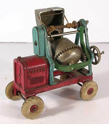 1910s CAST IRON JAEGER CEMENT MIXER CONSTRUCTION TOY By KENTON HARDWARE
