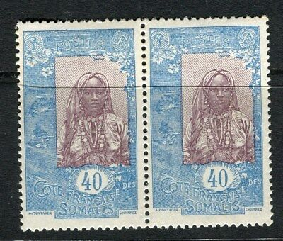 FRENCH SOMALIA;  Early 1915 pictorial issue Mint MNH 40c. pair