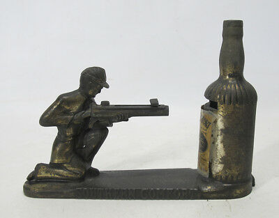 Vintage Southern Comfort Mechanical Shooting Confederate Soldier Bank Works yqz