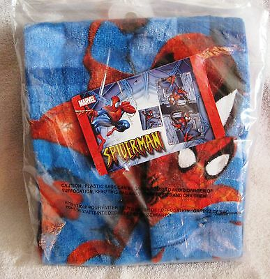 Brand-New - Beautiful - Spiderman - Beach Towel And Wash Cloth Set -Great Gift!!