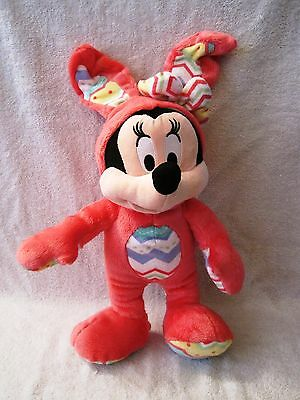 New With Tags - 2015 - Disney Store Exclusive - Minnie Mouse - Easter Plush Toy!