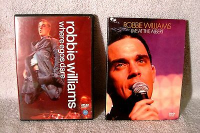 Lot Of 2 Robbie Williams Music Dvd's - Where Egos Dare & Live At The Albert!!