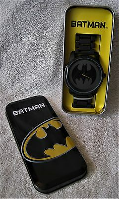 Rare - Brand-New - Large Face Batman Watch In Metal Collector's Tin - Great Gift
