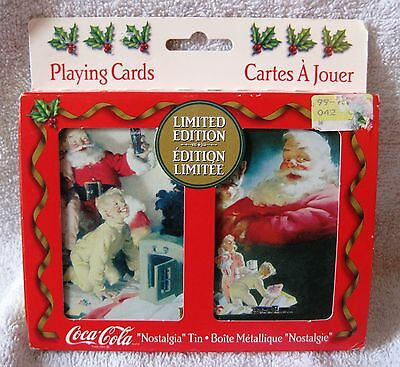 """Brand-New - 1996 - Limited Edition Coca-Cola """"nostalgia"""" Tin And Playing Cards!"""