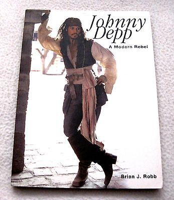 New - Johnny Depp - A Modern Rebel - Softcover Book - By Brian J. Robb