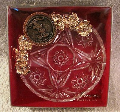Beautiful - Vintage - Disneyland - Mickey Mouse - Crystal Ashtray - Great Gift!!