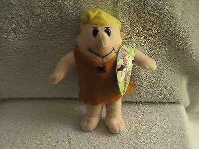 """New With Tags - 7"""" Hanna Barbera - Barney Rubble Plush Toy - Great Gift Item!!"""