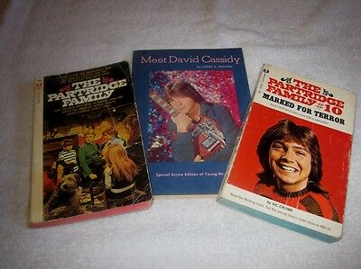 Lot Of 3 Vintage Partridge Family & David Cassidy Books - Awesome Collectibles