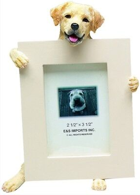 NIB! E&S Imports PETS Yellow Lab Labrador Picture Frame Animal Gift Dog Lover