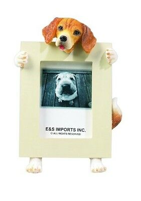 NIB! E&S Imports PETS Beagle Picture Frame Animal Gift Dog Lover