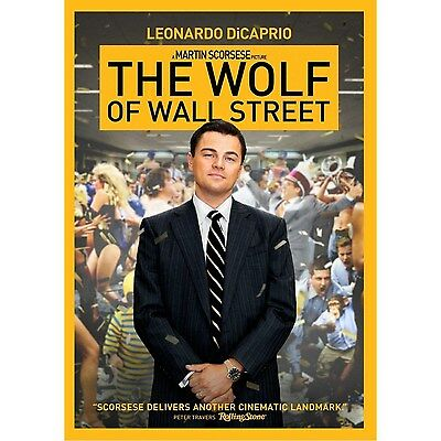 THE WOLF OF WALL STREET - DiCAPRIO - WS DVD -ENGLISH, SPANISH & FRENCH LANGUAGES