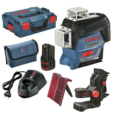 Bosch Line laser GLL 3-80 C,with 1 x 2,0 Ah Li Ion battery,BM1,Charger,L-BOXX