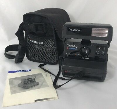 Vintage Polaroid Instant Camera One step Close Up With Bag + Manual TESTED