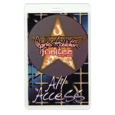 Jane's Addiction authentic 2001 concert Laminated Backstage Pass Jubilee Tour