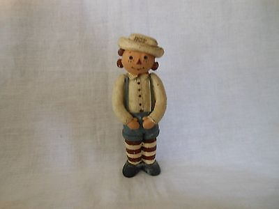 """Vintage Raggedy Andy Primitive Figurine 5"""" Tall"""