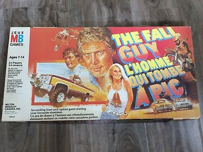 THE FALL GUY Board Game Vintage 1981 Milton Bradley Complete Lee Majors Action