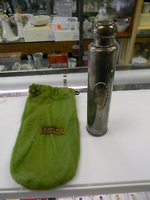 """Tiffany & Co Sterling Silver Perfume Bottle w/ Pouch 15768-818  7"""" tall 142grams"""