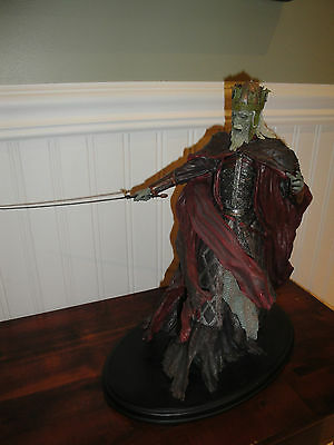 Lord Of The Rings Lotr Sideshow Statue King Of The Dead With Box Please Read