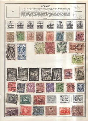 Poland On Harris Album Pages 1918 To 1984-About 500 Stamps!
