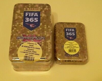 Panini Adrenalyn XL FIFA 365 2018 Tin Box + Mini Tin Box inkl 5x Limited Edition