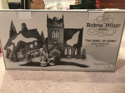 Dept 56 Dickens' Village THE SPIRIT OF GIVING Start a Tradition #58322 13 Pc NEW