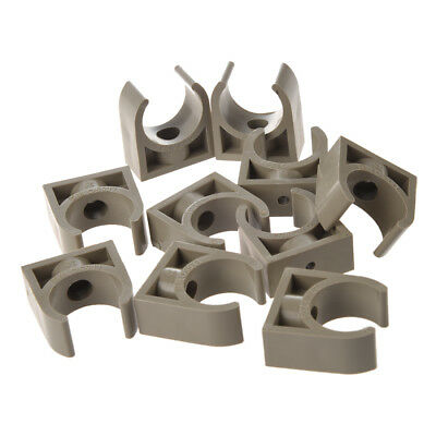 10 Pcs 25mm Diameter PPR Water Supply Pipe Clamps Clips Fittings PK X9E1