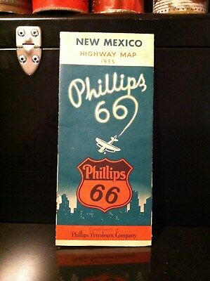 Vintage Phillips 66 ~ 1935 New Mexico Highway Map