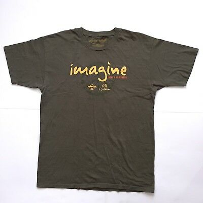 hard rock cafe imagine there's no hunger john lennon shirt large G3