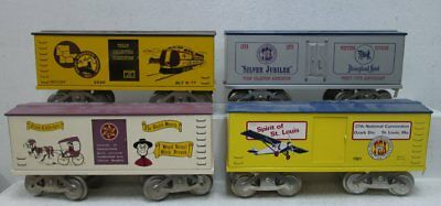 McCoy Std. Gauge TCA Freight Cars: 3326, 1981, 1979 & Pennsylvania (4) LN/Box
