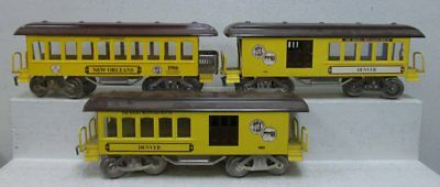 McCoy Std. Gauge TCA Tinplate Passenger Cars: 1982, 1982 & 1986 (3) LN