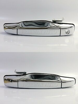 fits GMC Chevy Outside Exterior Outer Door Handle Front Right Chrome Keyhole