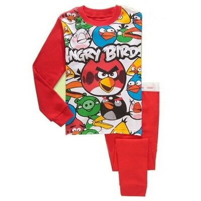2017 New Listing Kids Boys Baby Angry bird pajamas set 3T sleepwear nightclothes