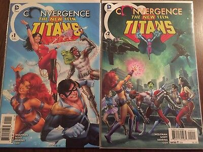 DC Comics 'Convergence The New Teen Titans' Issues #1-2 VF/NM