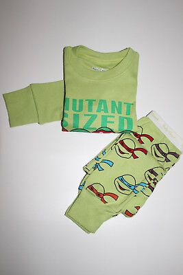 Boy Ninja turtles pajamas set 3T cotton Cartoon kids baby sleepwear nightclothes