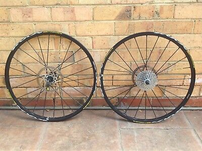 "Mavic Crossmax ST UST 26"" Wheel Set & XT Rotors & SRAM PG980 Cassette"