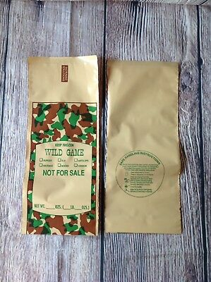 30X Poly Wild Game Ground Meat Bags Self Processing