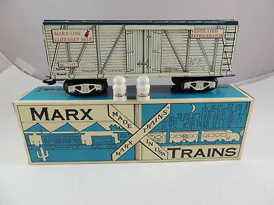 Marx Trains Tinplate Guernsey Reefer Car With Milk Cans No. 73411 New Ob