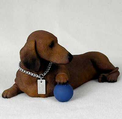 DACHSHUND (RED) MY  DOG  Figurine Statue Pet Lovers Gift Resin Hand Painted