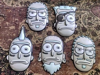 Adult Swim SDCC 2017 Exclusive Rick And Morty Seal Team Rick Mask Set of 5 Masks